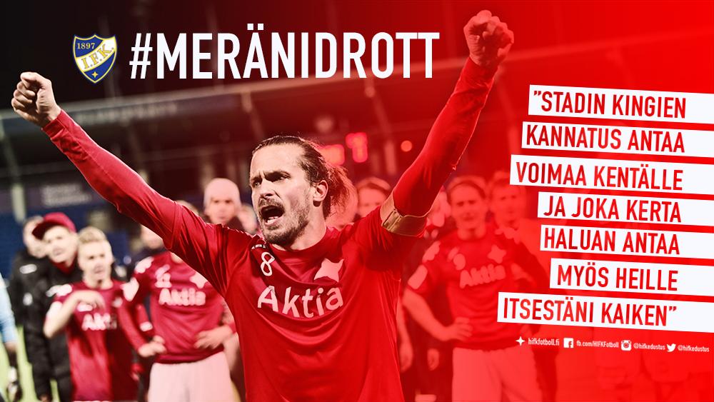 """IFK-legenda jatkosopimukseen – """"Kiitos kannattajille tuesta"""""""