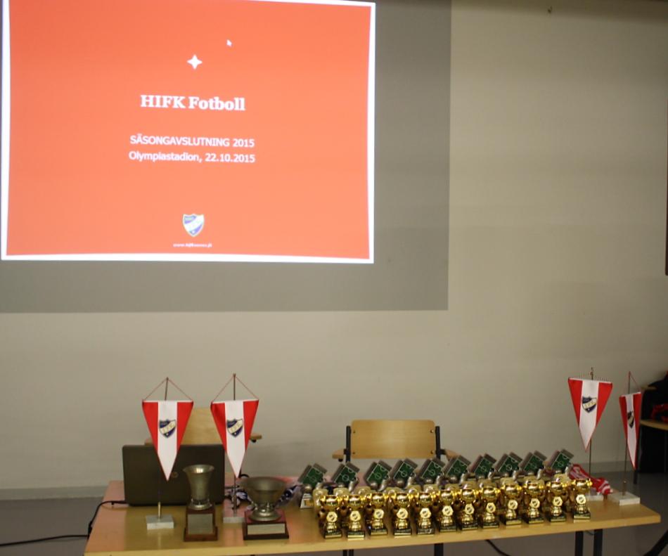 HIFK:n kauden 2015 päättäjäiset Olympiastadionilla