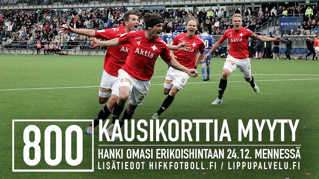 HIFK myynyt yli 800 kausikorttia – hanki omasi erikoishintaan 24.12. mennessä