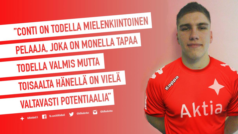 Emil Conti sopimukseen HIFK:n kanssa – mukana kokoonpanossa jo tänään