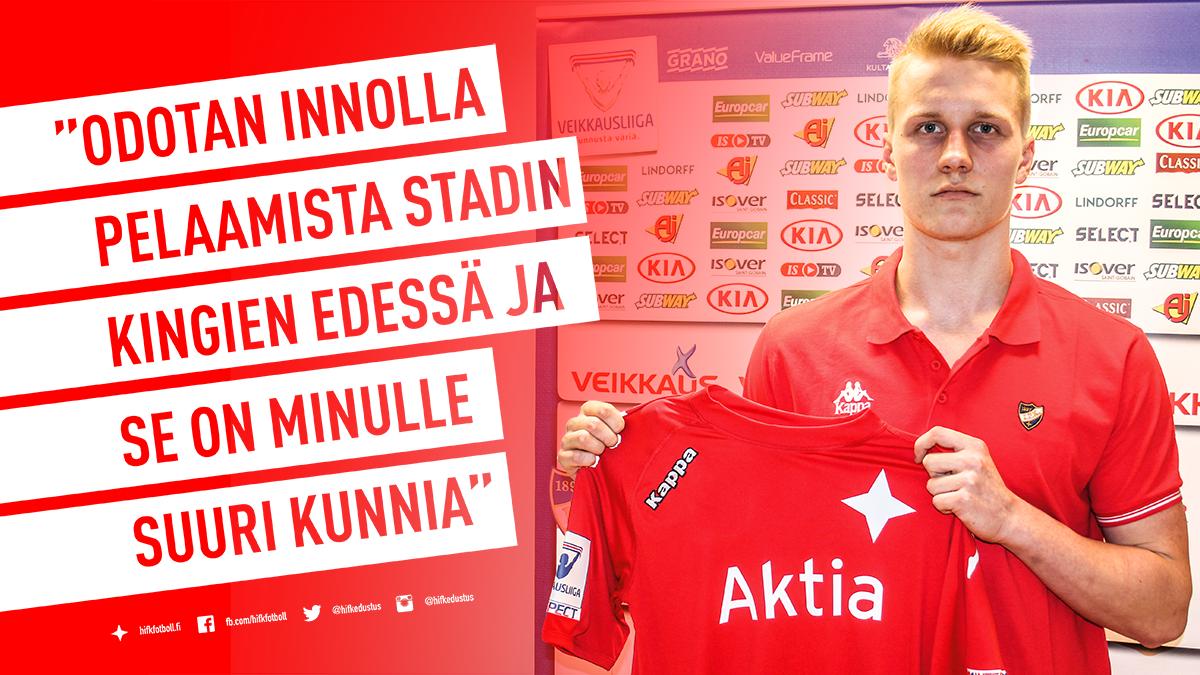 HIFK hankki nuorten maajoukkuetopparin Hakasta