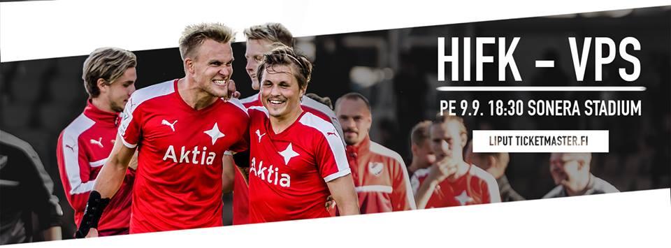 Otteluennakko: HIFK – VPS – ennakkoliput Itäkatsomoon 13e