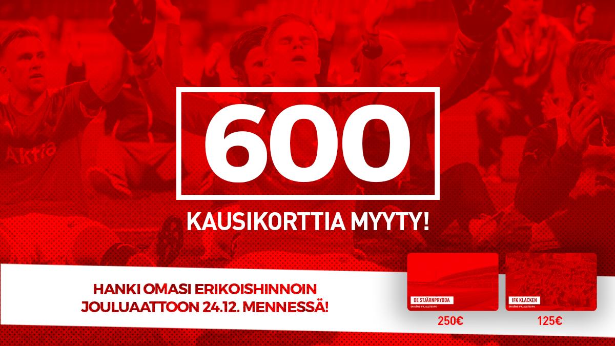 HIFK myynyt yli 600 kausikorttia