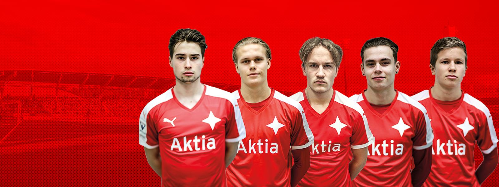 HIFK sopimukseen viiden <br> juniorimaajoukkuepelaajan <br> kanssa