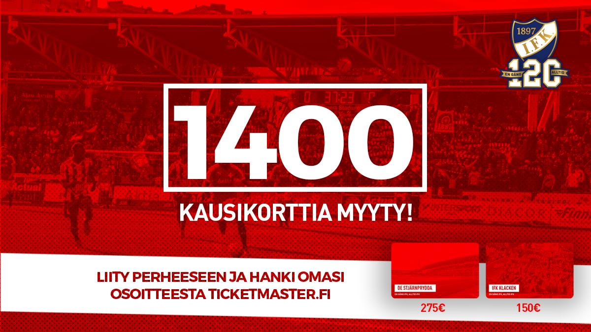 HIFK myynyt yli 1400 kausikorttia