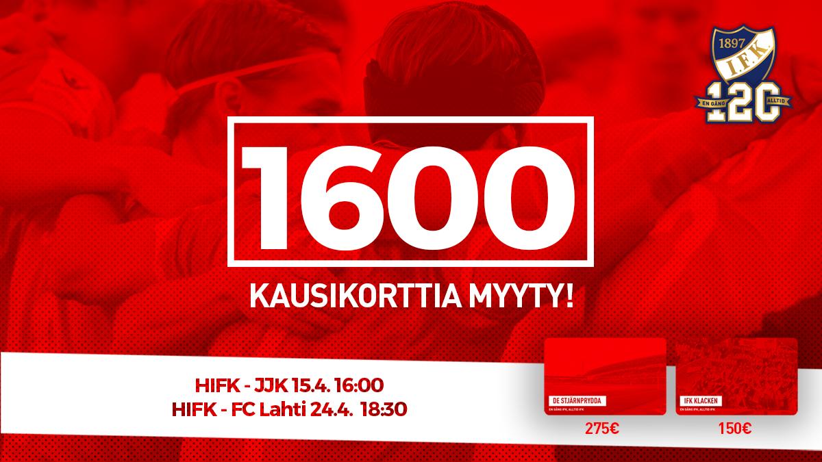 HIFK myynyt yli 1600 kausikorttia <br> – ensimmäinen kotiottelu lauantaina!