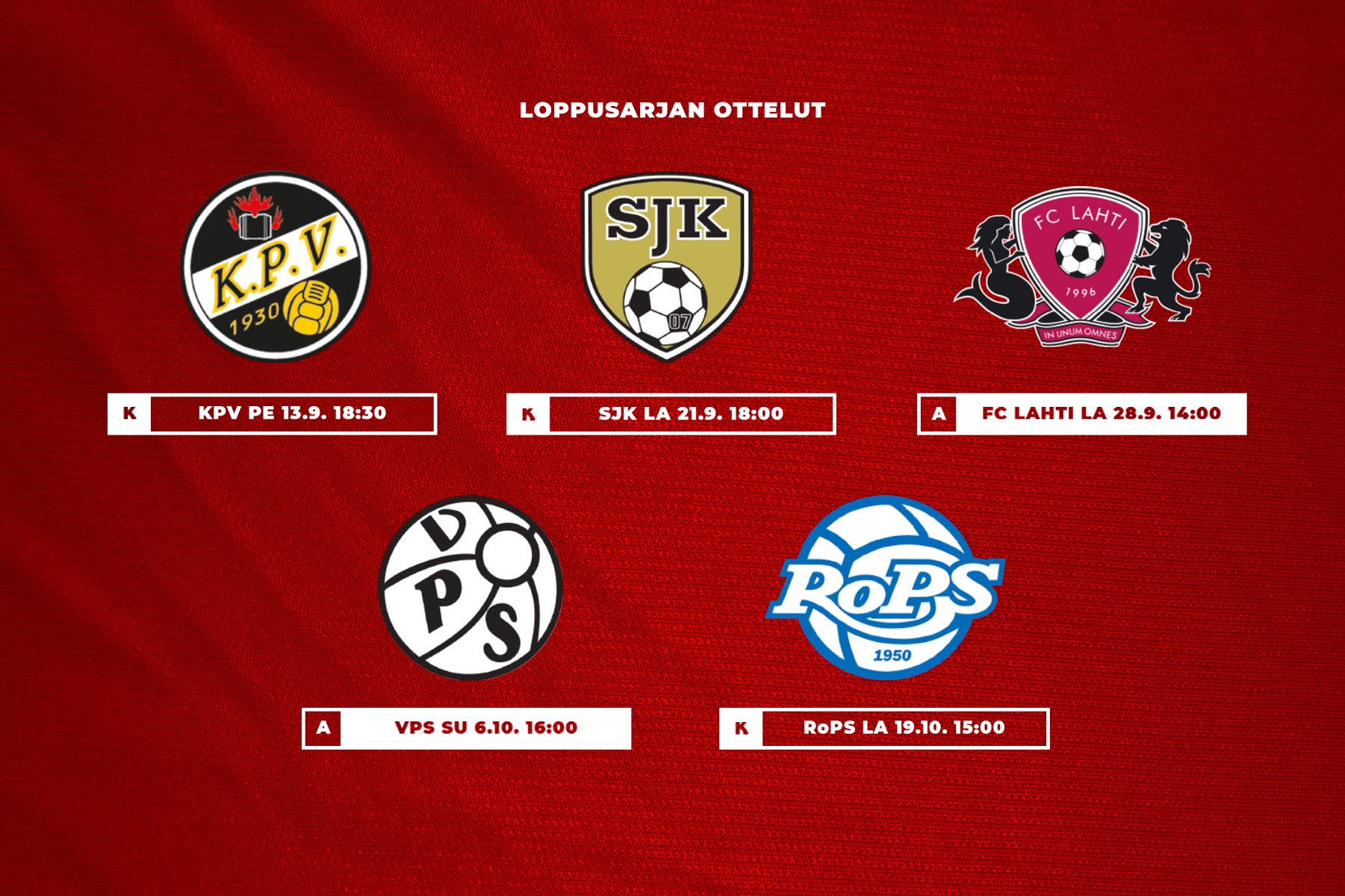 Haastajasarjan otteluohjelma julki – HIFK:lle kolme kotiottelua