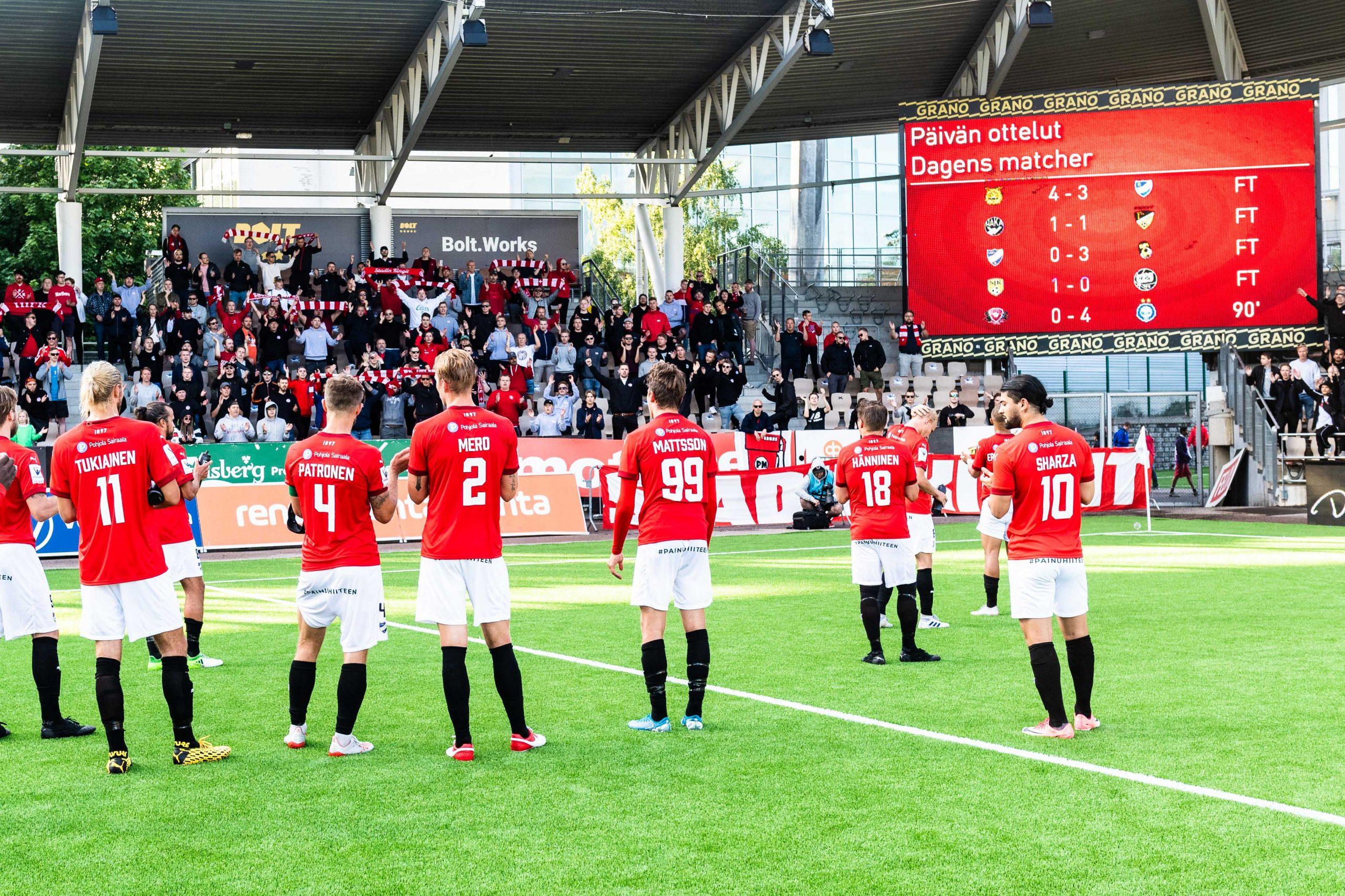 Veikkausliigasäsongen 2020 avslutas vid grundseriens slut