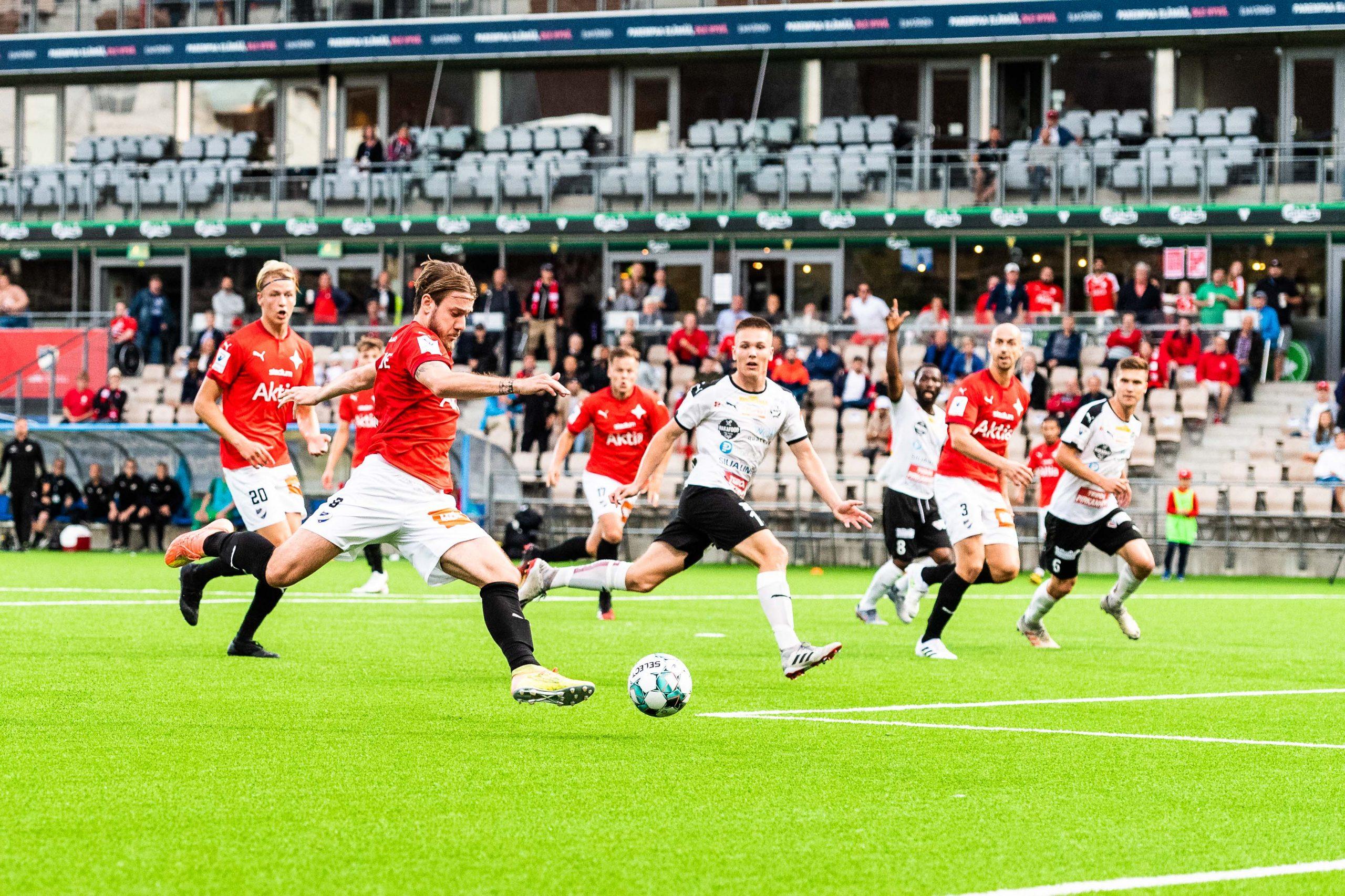 Matchrapport: FC Haka fick med sig tre poäng från Helsingfors