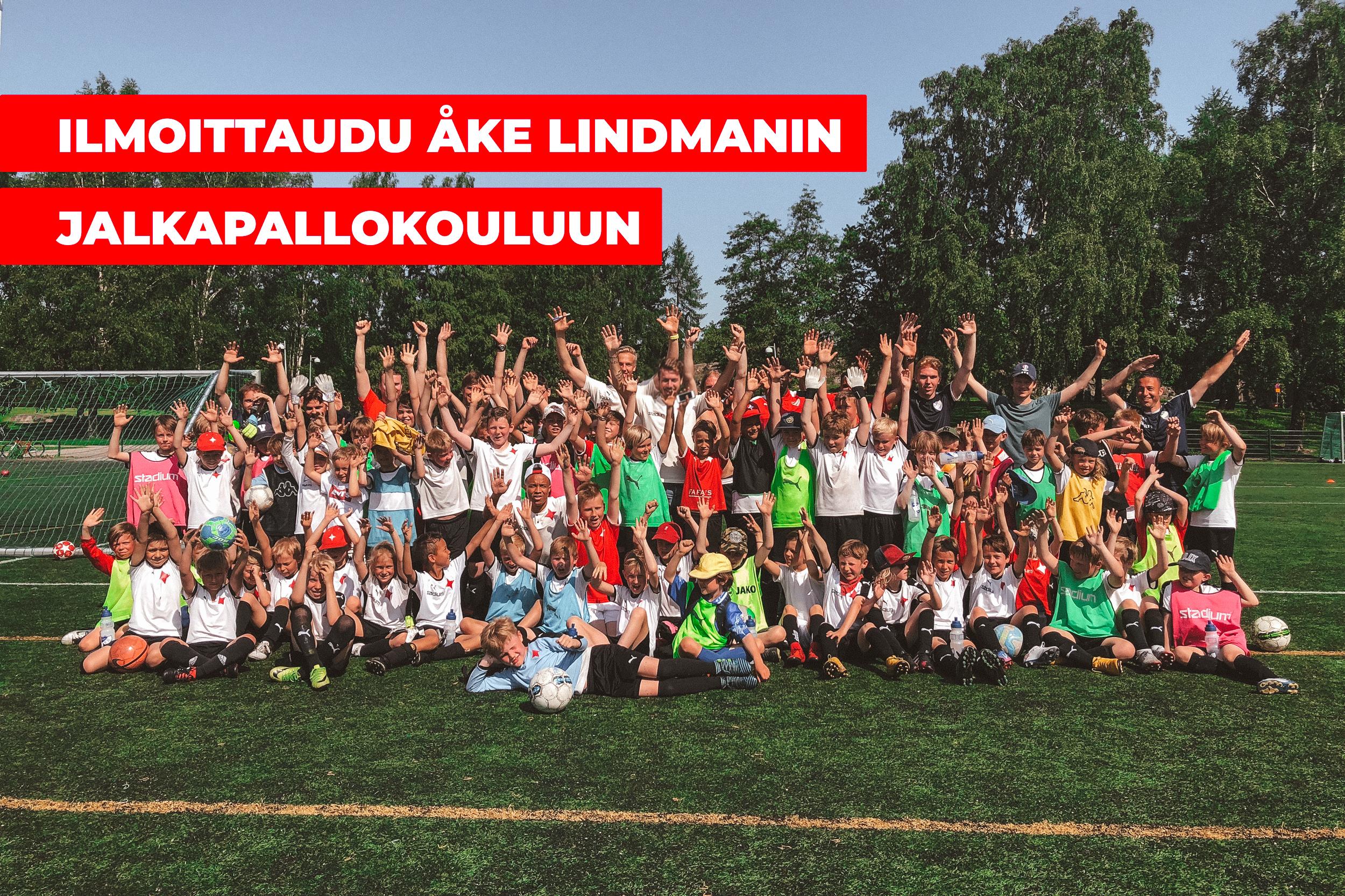 Åke Lindmanin jalkapallokoulu järjestetään kesällä kahteen otteeseen